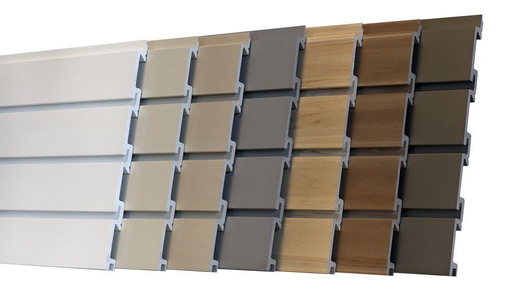 coloured slatwall
