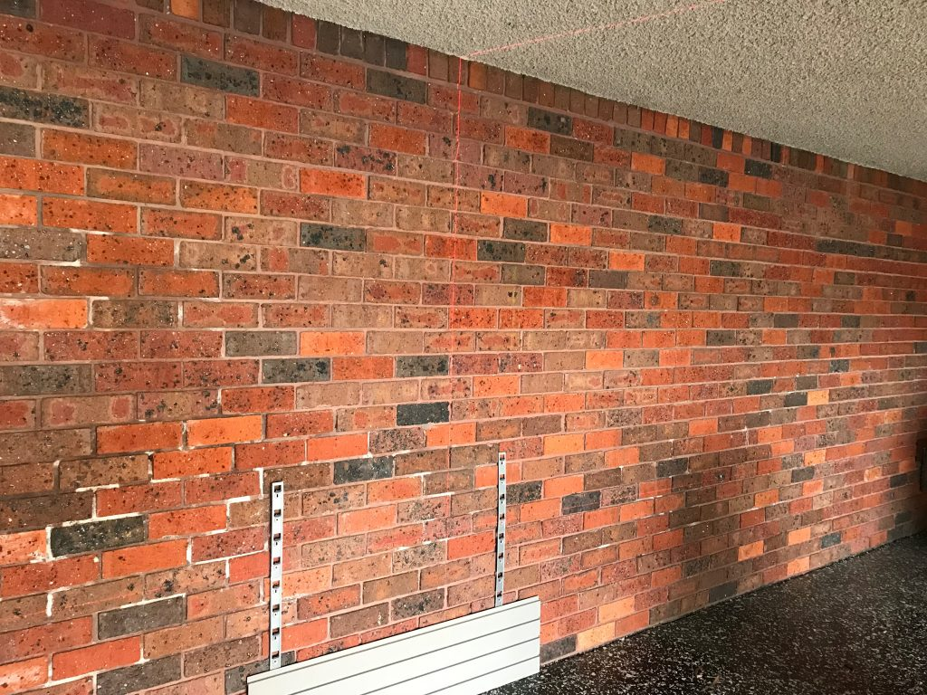 Wall Panels on a Garage Brick Wall