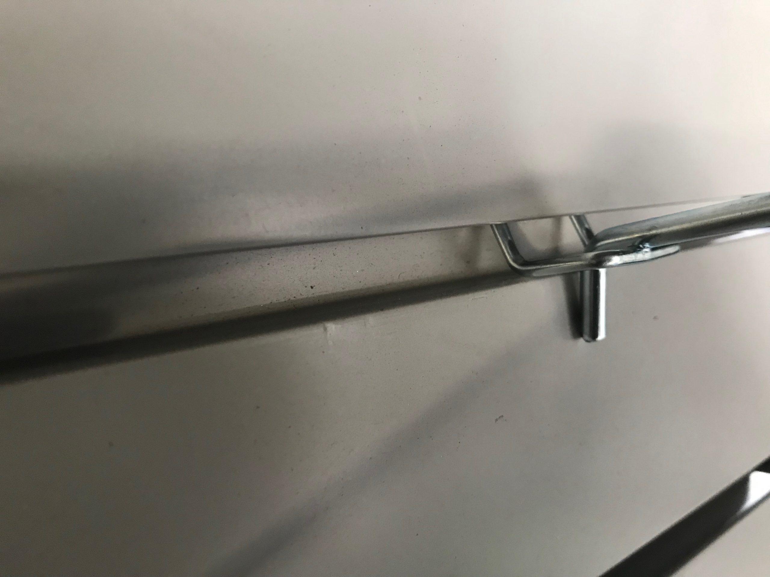 Simple Metal Hooks on Slatwall