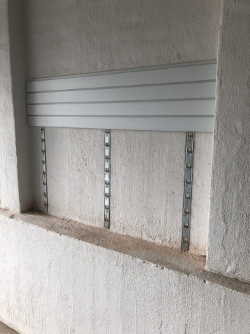 Brick Wall Garage Installation