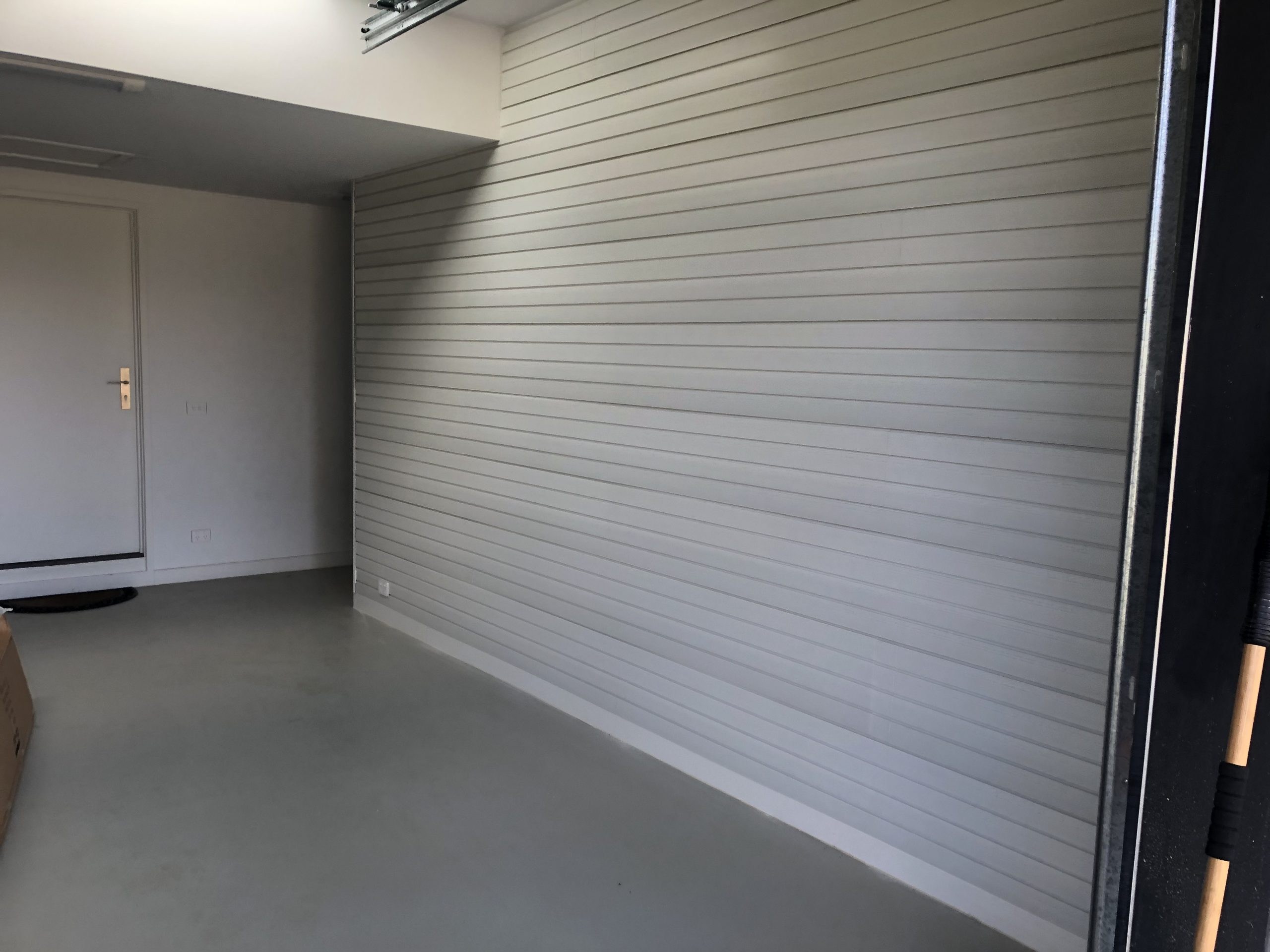 White Slatwalls for Garage