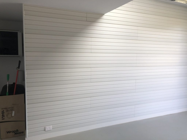 Brite White Wall Panels on Garage