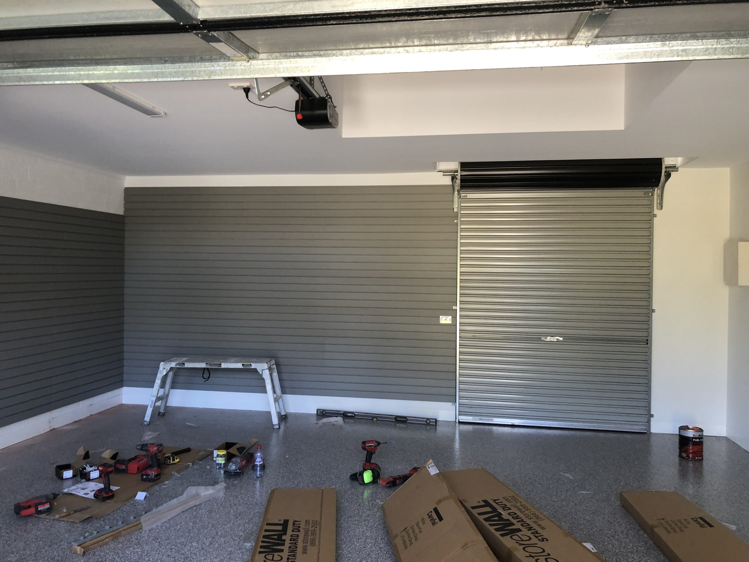 StoreWALL Weathered Grey Installation Melbourne