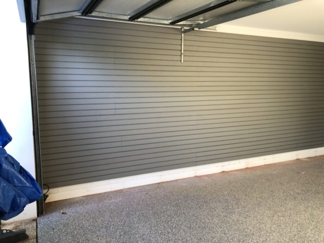 StoreWALL Weathered Grey Garage Wall Panels Installation Melbourne