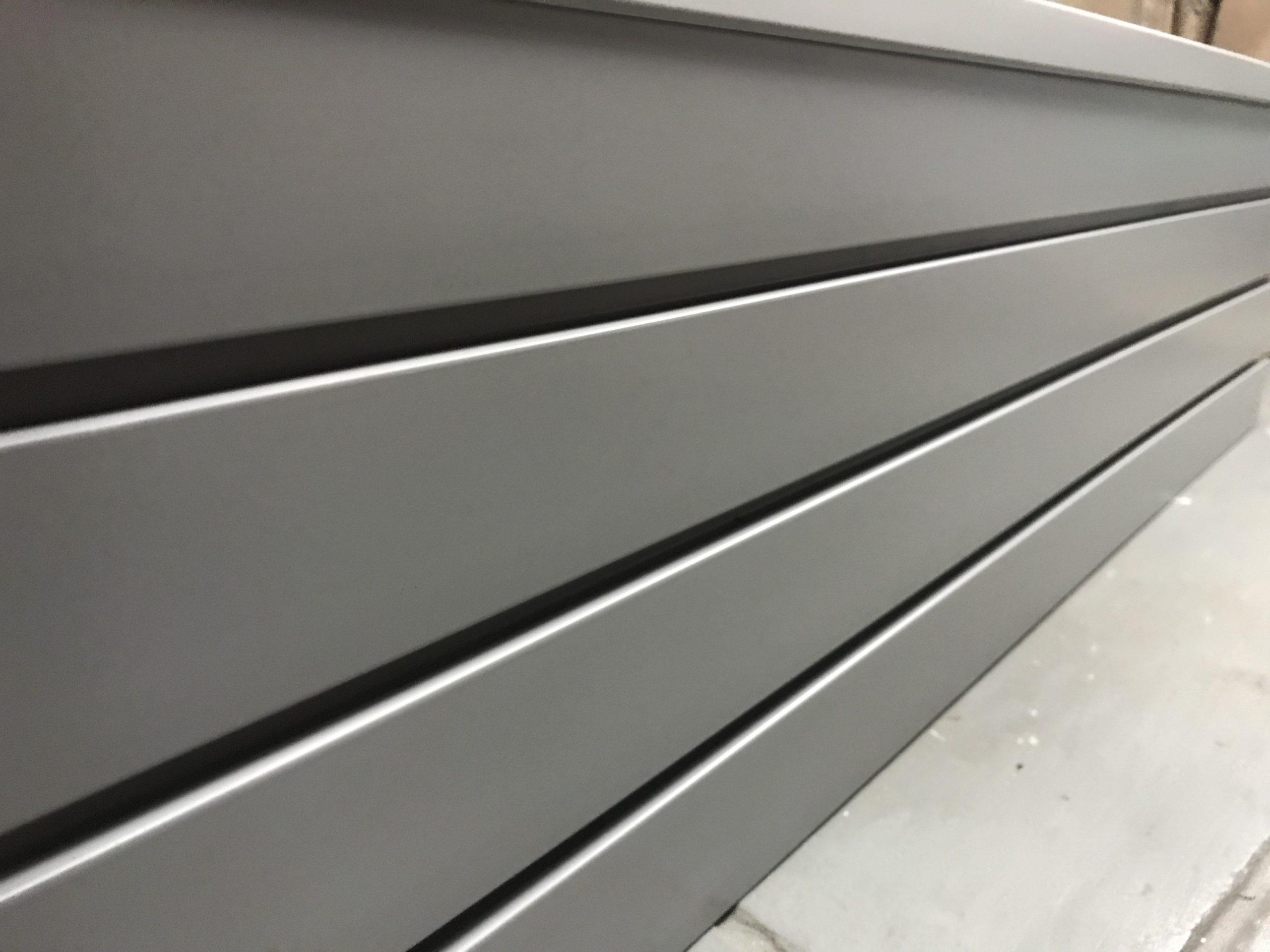 Weathered Grey Slatwall Panel