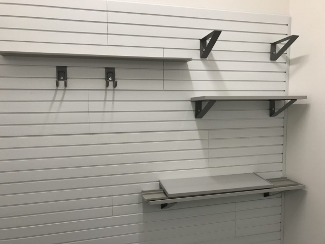 StoreWALL Brite White with Shelves