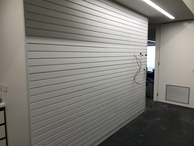 StoreWALL Brite White Panels Installation