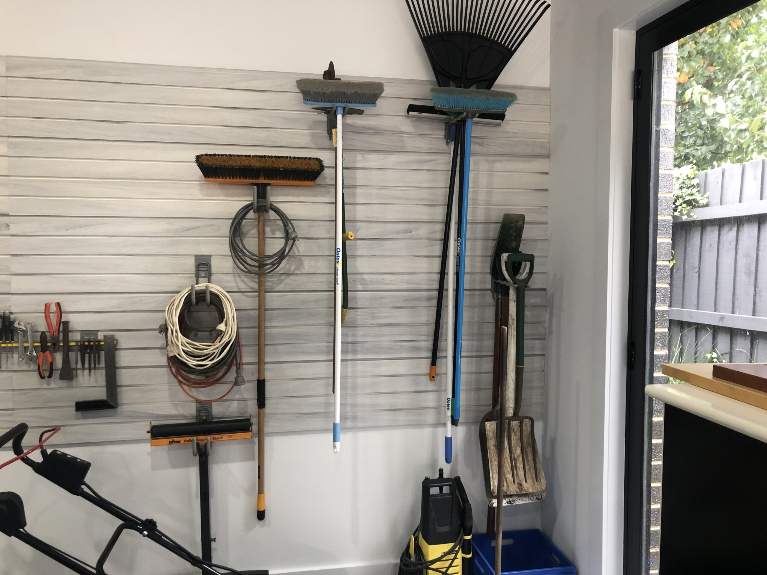 StoreWALL White Wood Garage Wall Panels