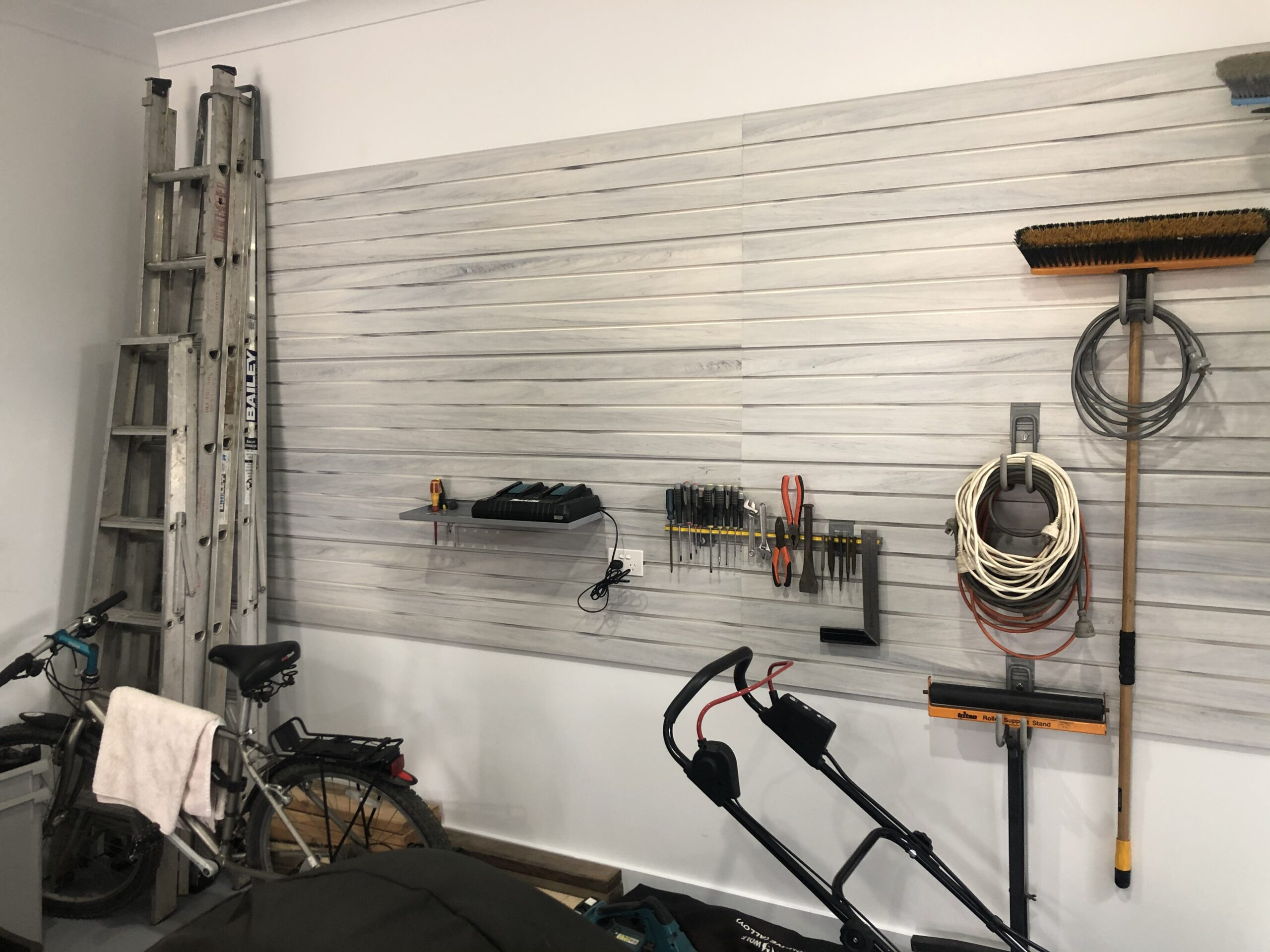 StoreWALL White Wood PVC Wall Panels