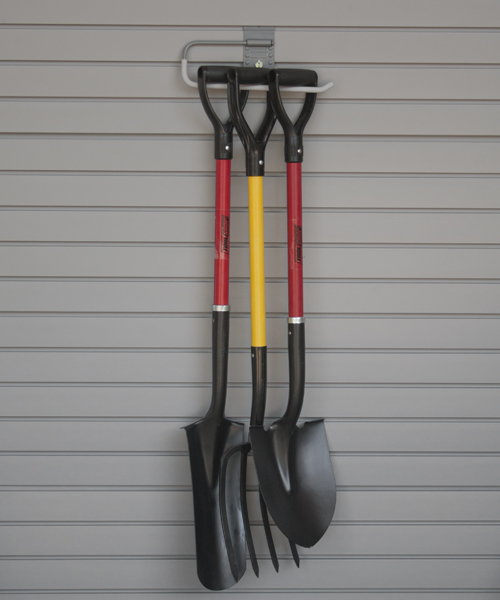 Storing gardening equipment in garage