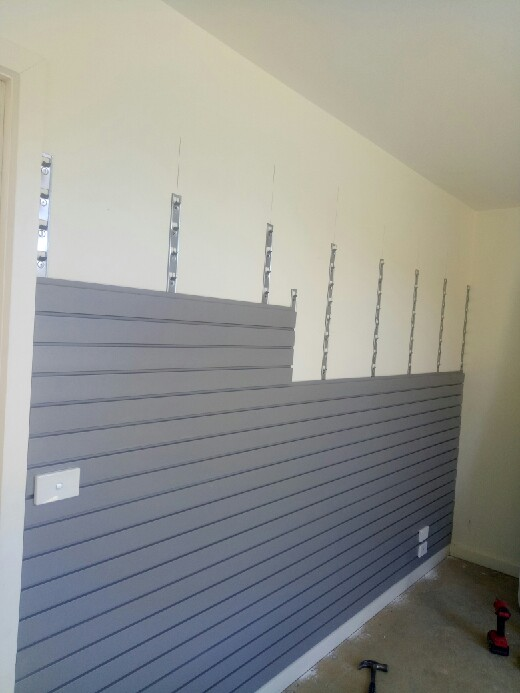 StoreWALL Weathered Grey Installation