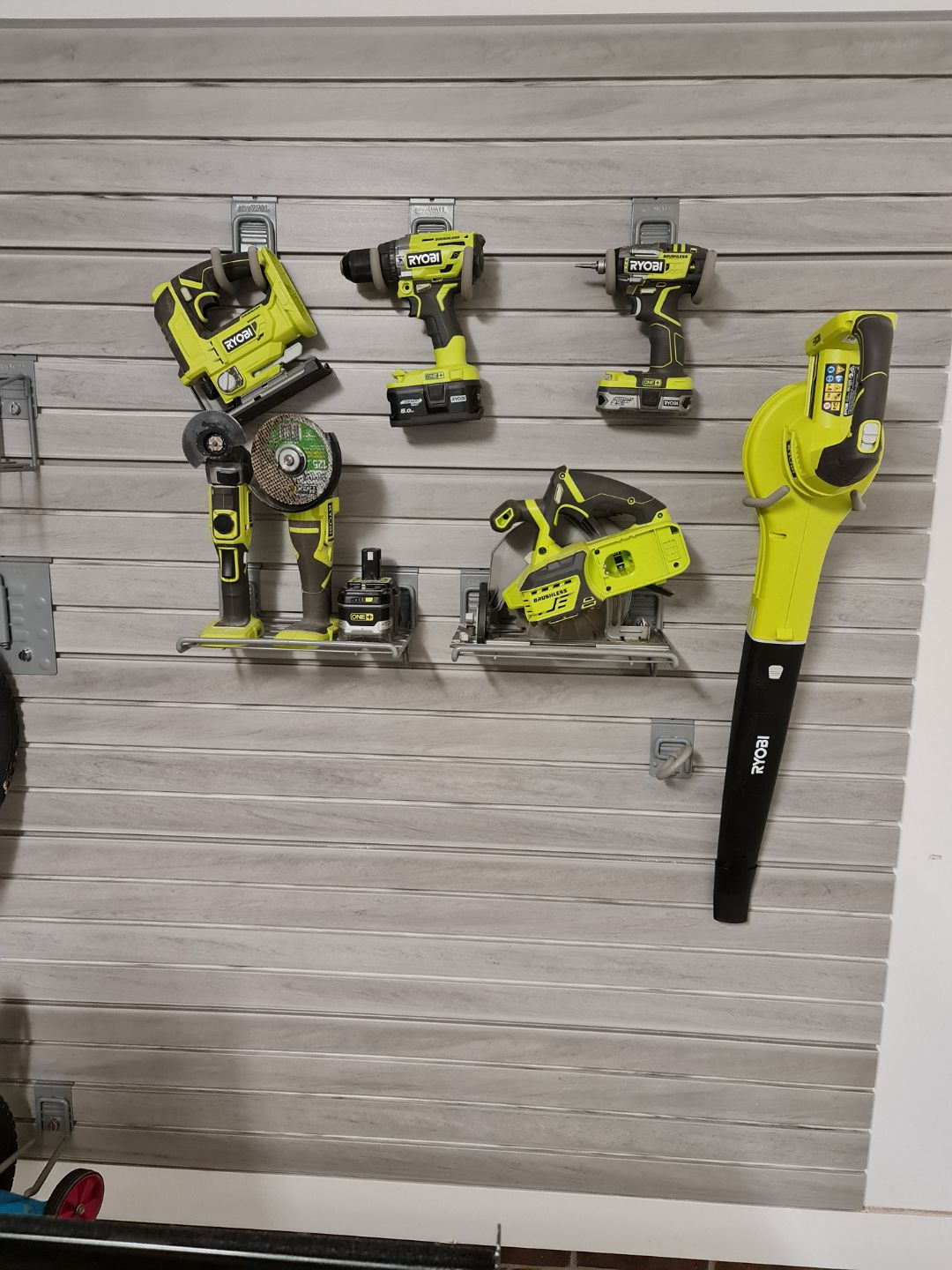 Power Tool Garage Storage