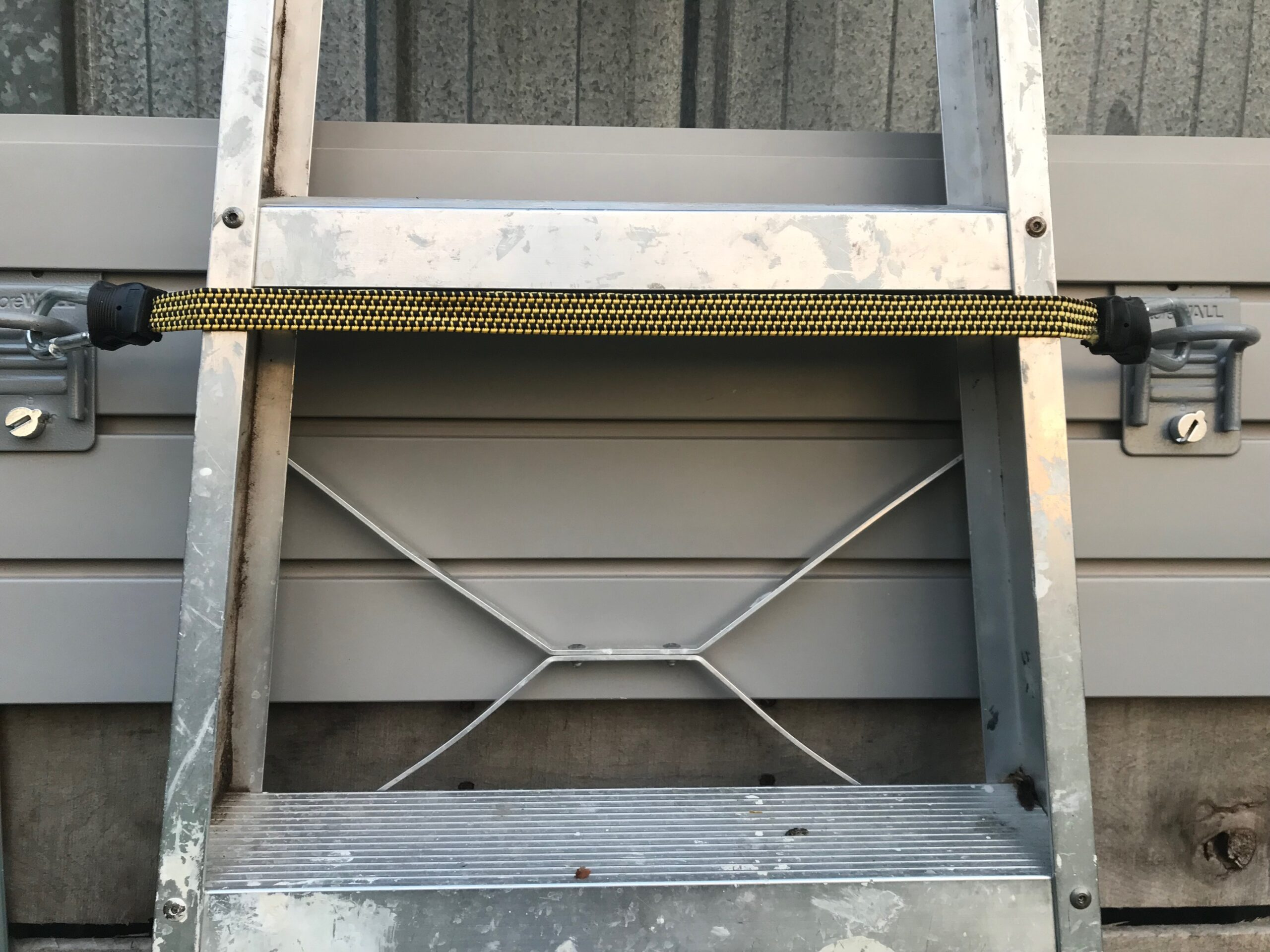 garage ladder storage storewall