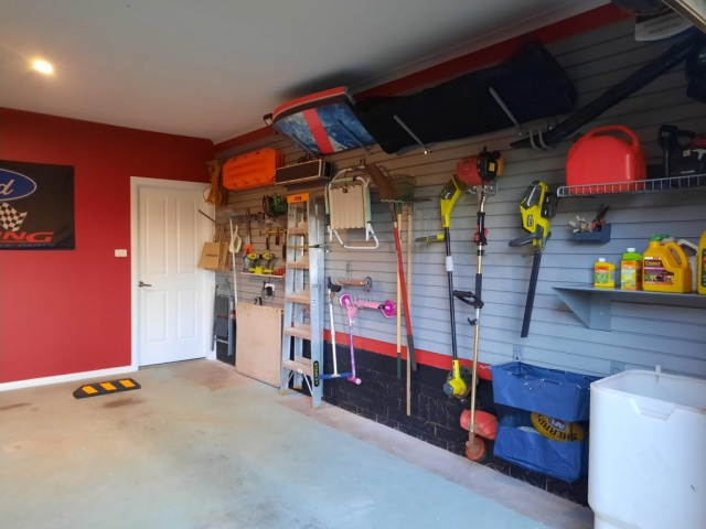 garage slatwall installation