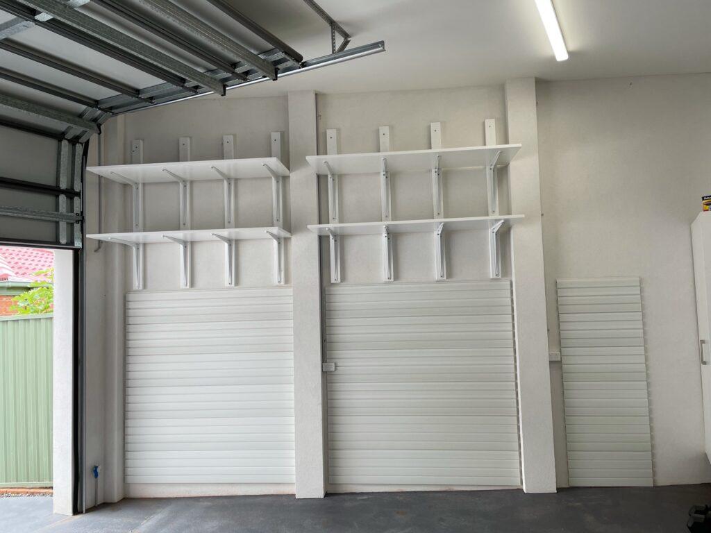 Rendered Brick Garage Wall