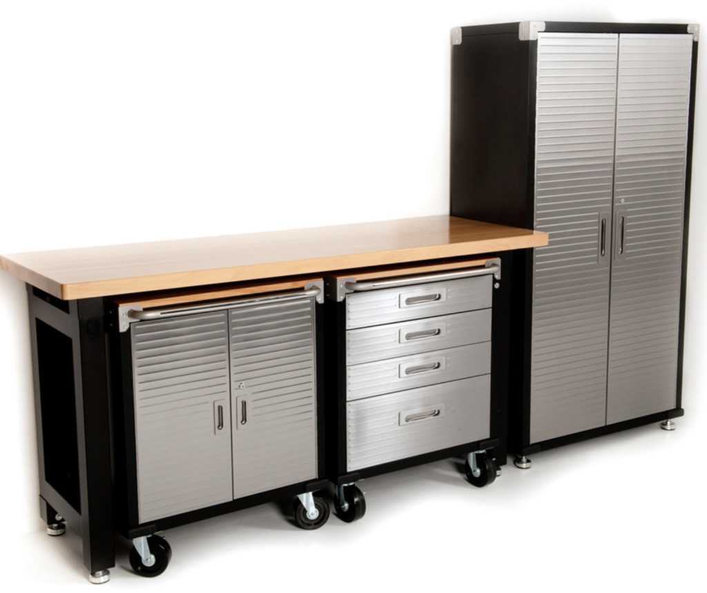 garage organization - cabinets